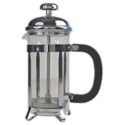 Genware Cafetiere Pyrex Glass 1L 8-Cup Chrome Finish