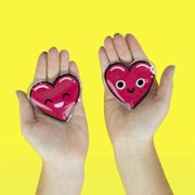 Gift Republic Heart Shaped Self Heating Reusable Hand Warmers Gift Pack