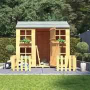 Gingerbread Max Wooden Kids Outdoor Playhouse with Bunk 7 x 5 BillyOh
