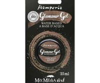 Glamor Gel Dark Brown Glittering 25ml, Stamperia, Patina, Colors Special, Hobby Colors, Decoupage