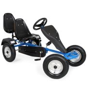Go kart with 2 seats blue - metal