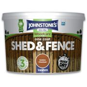 (Golden Chestnut, 9L) Johnstone's Woodcare One Coat Shed & Fence Paint
