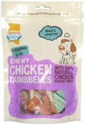 Good Boy Waggles and Co Chicken Dog Treats - Munchy Dumbbells Dry - 100g Bag