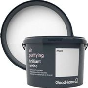 GoodHome Air purifying Brilliant white Matt Emulsion paint 2.5L
