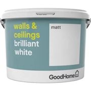 GoodHome Brilliant white Vinyl matt Emulsion paint 10L