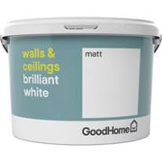 GoodHome Brilliant white Vinyl matt Emulsion paint 2.5L