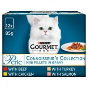 Gourmet Perle Mixed Selection Cat Food - Connoisseur's Collection in Gravy - 12 x 85g Pouches