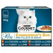 Gourmet Perle Mixed Selection Cat Food - Connoisseurs Duo - 12 x 85g Pouches