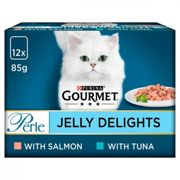 Gourmet Perle Adult Jelly Delights Salmon Wet Food Pouches 12x85g
