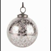 Grand Illusions - Etched Snowflake Bauble - green | 18cm diameter - Green/Silver/Green