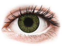 Green contact lenses - FreshLook ColorBlends Power: 0.00, BC: 8.60, DIA: 14.50