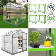 Greenhouse 6ft x 6ft With Base And Racking