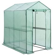 Greenhouse PE 6x4ft with 2 Tiers