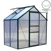 Greenhouse Polycarbonate 6ft x 4ft (Green)