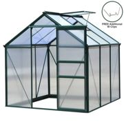 Greenhouse Polycarbonate 6ft x 6ft (Green)