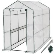 Greenhouse with tarpaulin - white