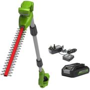 Greenworks 24v Cordless Long Reach Split-shaft Hedge Trimmer with 2Ah Lithium-ion Battery and Charger