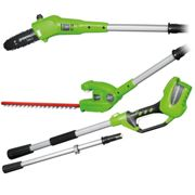 Greenworks Pole Saw and Hedge Trimmer without Battery G40PSH 1300607