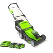 Greenworks Greenworks G40LM41K2X 400mm Cordless Lawnmower with 2 x 2Ah Batteries and Charger (40V)