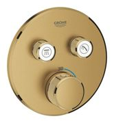 GROHE Grohtherm SmartControl - Concealed Thermostat for 2 outlets brushed cool sunrise