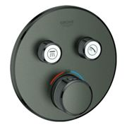 GROHE Grohtherm SmartControl - Concealed Thermostat for 2 outlets brushed hard graphite