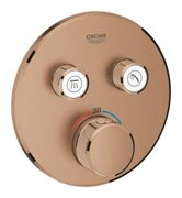 GROHE Grohtherm SmartControl - Concealed Thermostat for 2 outlets brushed warm sunset
