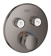 GROHE Grohtherm SmartControl - Concealed Thermostat for 2 outlets hard graphite