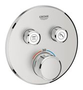 GROHE Grohtherm SmartControl - Concealed Thermostat for 2 outlets supersteel