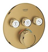 GROHE Grohtherm SmartControl - Concealed Thermostat for 3 outlets brushed cool sunrise