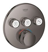 GROHE Grohtherm SmartControl - Concealed Thermostat for 3 outlets hard graphite
