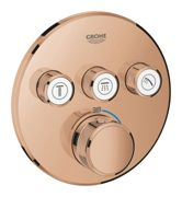 GROHE Grohtherm SmartControl - Concealed Thermostat for 3 outlets warm sunset