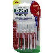 GUM TRAV-LER 0,8mm Kerze rot Interdental+6Kappen Zahnbrste 6 units