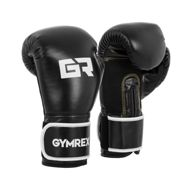 Gymrex Boxing Gloves - 14 oz - interior mesh - black