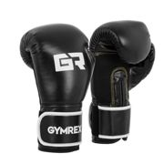 Gymrex Boxing Gloves - 16 oz - interior mesh - black