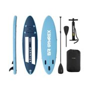 Gymrex Inflatable SUP Board - 135 kg - blue/navy blue - set with paddle and accessories GR-SPB300
