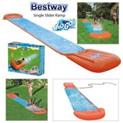 H20G0! SINGLE WATER SLIDE WITH RAMP! Great Outdoor Fun For Kids and Family!