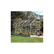 Halls Traditional Popular 6ft x 10ft Greenhouse (Silver)