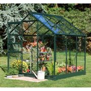 Halls Traditional Popular 6ft x 6ft Greenhouse (Green)