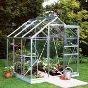 Halls Traditional Popular 6ft x 6ft Greenhouse (Silver)