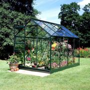 Halls Traditional Popular 6ft x 8ft Greenhouse (Green)