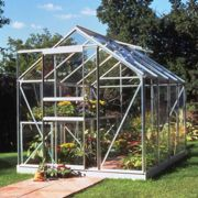 Halls Traditional Popular 6ft x 8ft Greenhouse (Silver)