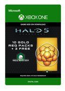 Halo 5: Guardians 10 Gold REQ Packs + 3 Free