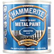 Hammerite Direct To Rust Smooth Blue Metal Paint - 250Ml