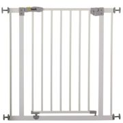 Hauck Open N Stop Metal Pressure Fix Safety Stair Gate + Extension 75 - 90cm (Pack of 3) - White