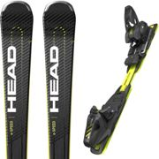 HEAD Supershape E-speed Sw Sf-p + Prd 12 Gw Br.85 - Alpine ski package - Black/Yellow - taille 177