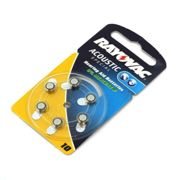 Hearing Aid batteries Rayovac HA10,V230A,V10A,PR 230 H,DA10H,DA230 PR70 10 (x6) Button Cell