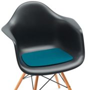 Hey-Sign - Eames Plastic Armchair Seat Mat - deep water/felt in 5mm thickness/LxWxH 37x35x0.5cm/anti-slip