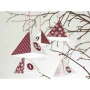 Heyda Advent Calendar Boxes Red and White (24 pieces) , Christmas Decorations, Christmas, Paper Scrapbooking