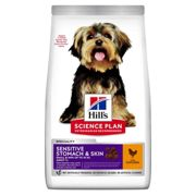 Hills Science Plan Adult Sensitive Stomach and Skin Small and Mini Dog Food - Dry Chicken - 1.5kg bag