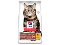 Hills Science Plan Mature Adult Hairball and Indoor Chicken Cat Food - Chicken Dry - 1.5kg Bag
